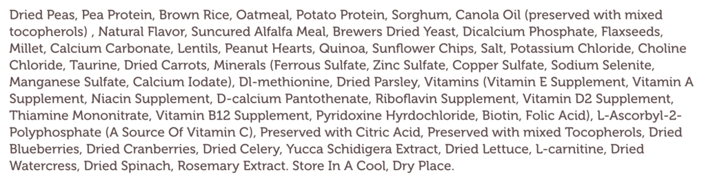 The Ingredients List For The Best Vegan Dog Food On The Market!